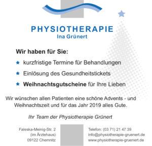 Physiotherapie Ina Grünert in Chemnitz